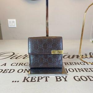 Gucci GG Logo Printed  Convertible Wallet